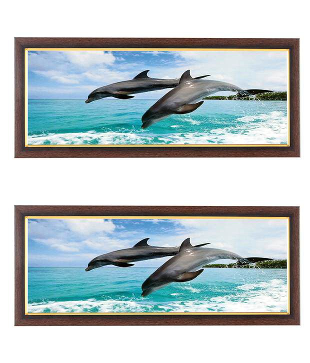 Wens Pair Dolphin Wall Art (Buy 1 Get 1)