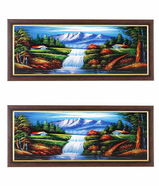 Wens Water Fountain Wall Art (Buy 1 Get 1)