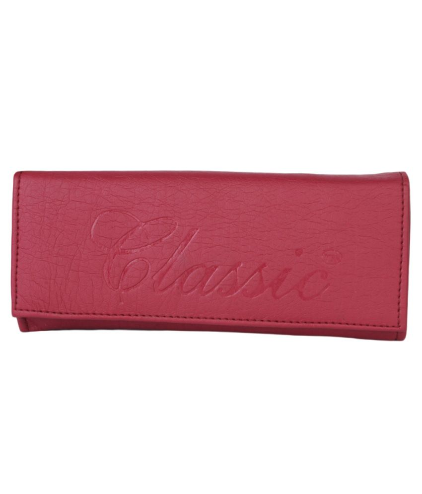 Classic Maroon Formal Wallet For Women