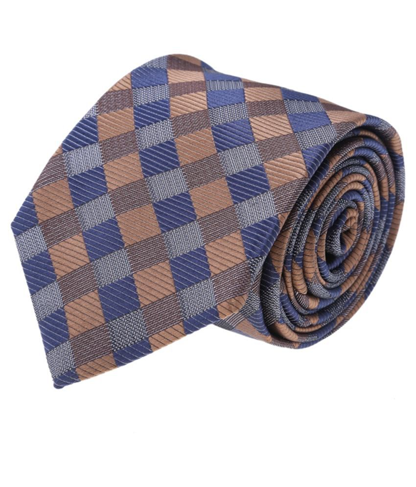 Coolife Multicolour Micro Fiber Neck Tie
