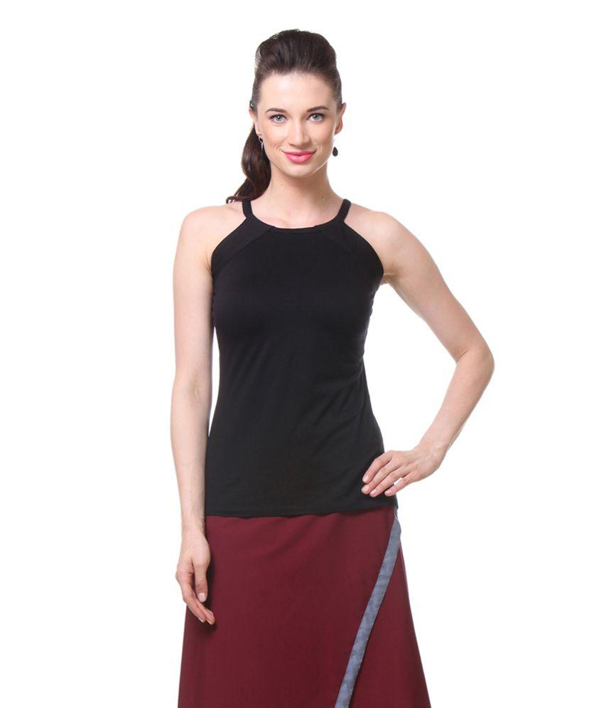 66c845680cd013 Kaaryah Black Sleeveless Top - Buy Kaaryah Black Sleeveless Top Online at  Best Prices in India on Snapdeal