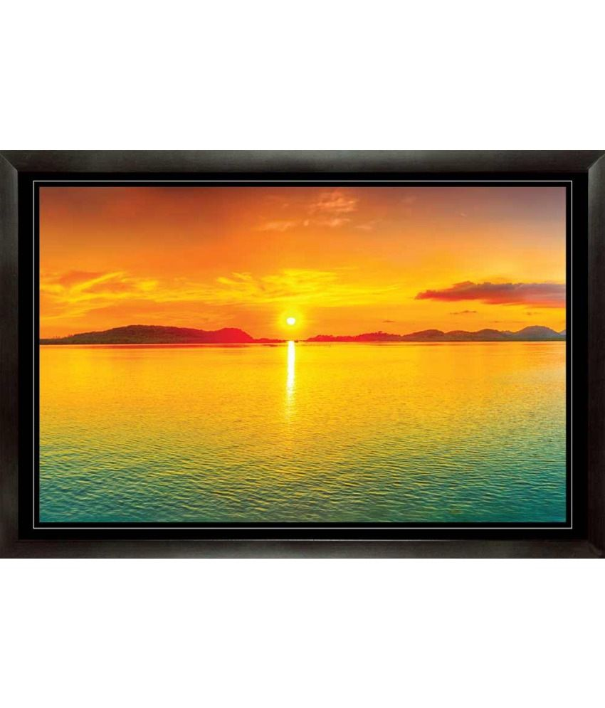 Mataye Graphics Sun rise Acrylic Nature Painting