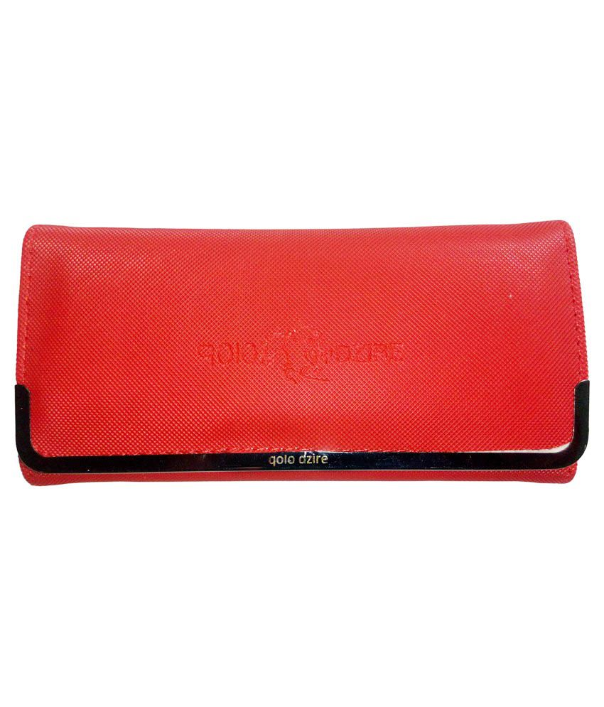 Qolo Dzire Red Polyester Wallet