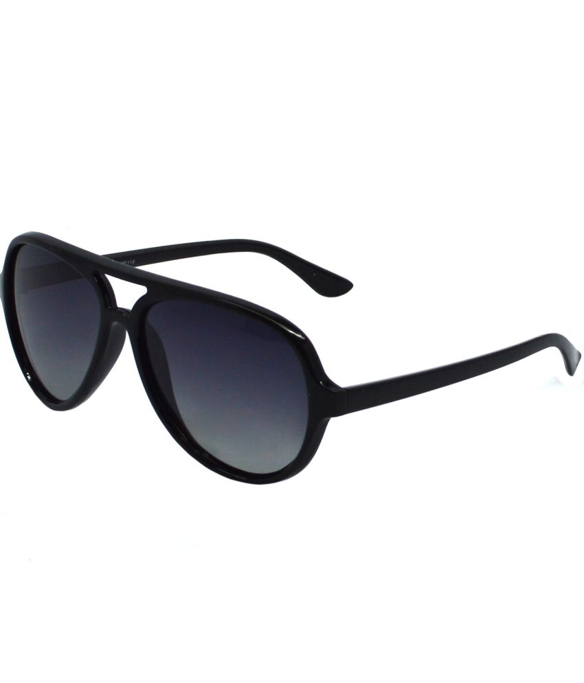 Red Knot Black Medium For Unisex Aviator Sunglasses