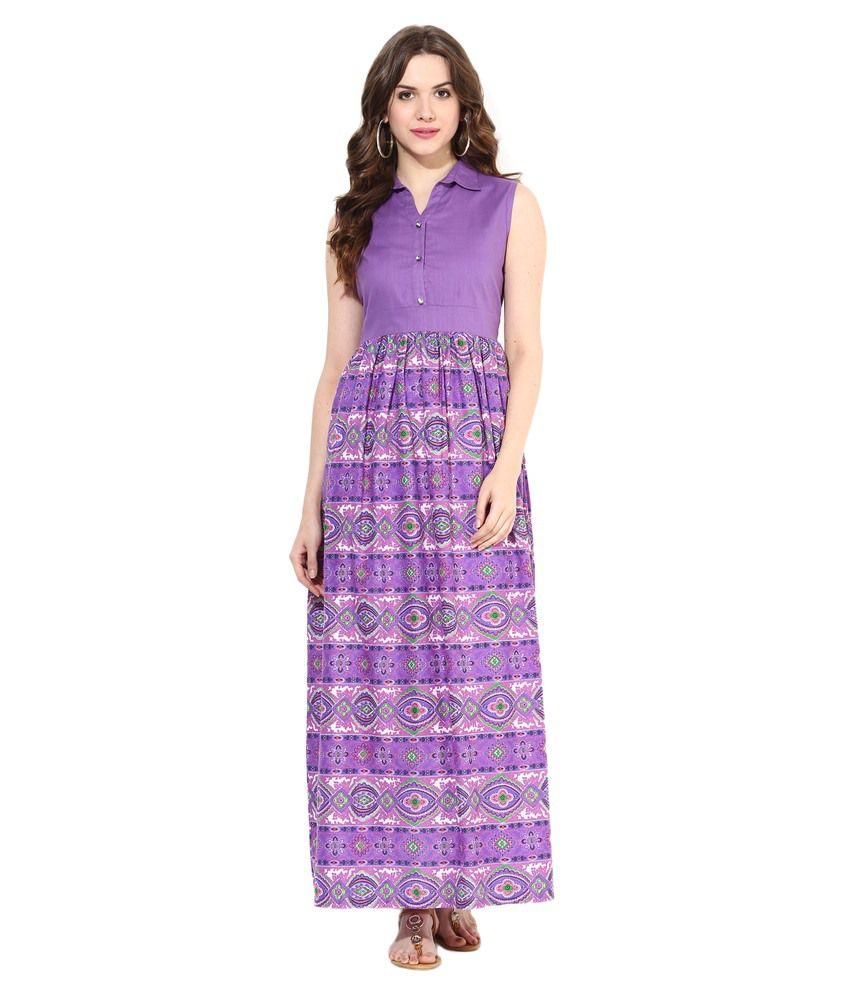 Tissu Purple Cotton Kurti