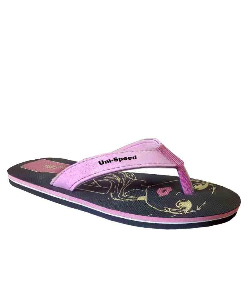 Unispeed Cute Girl Pink Flip-Flops
