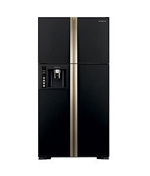 Hitachi 638 ltrs R-W720FPND1X -(GBK)-(Delux) Frost Free Double Door Refrigerator Glass Black