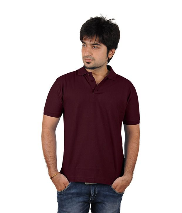 Trend Tex Brown Cotton Plain T Shirts