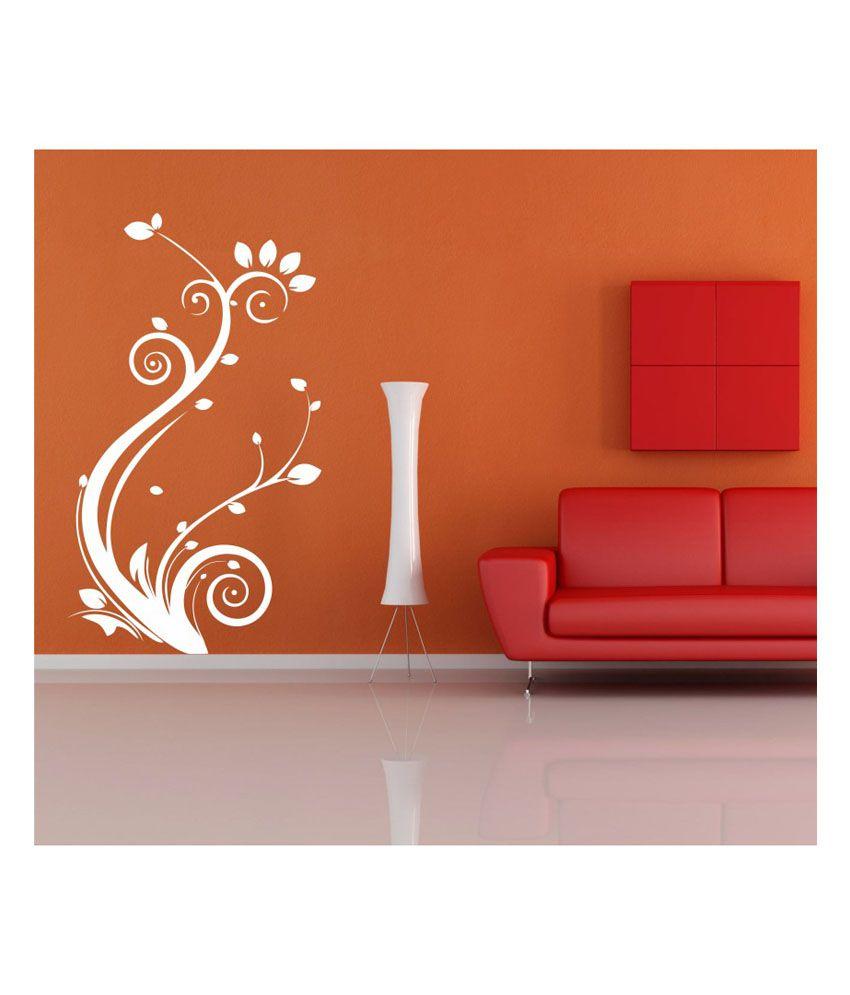 Wall Art Stickers Vector : Ddreamz white branch flowers vector wall sticker buy