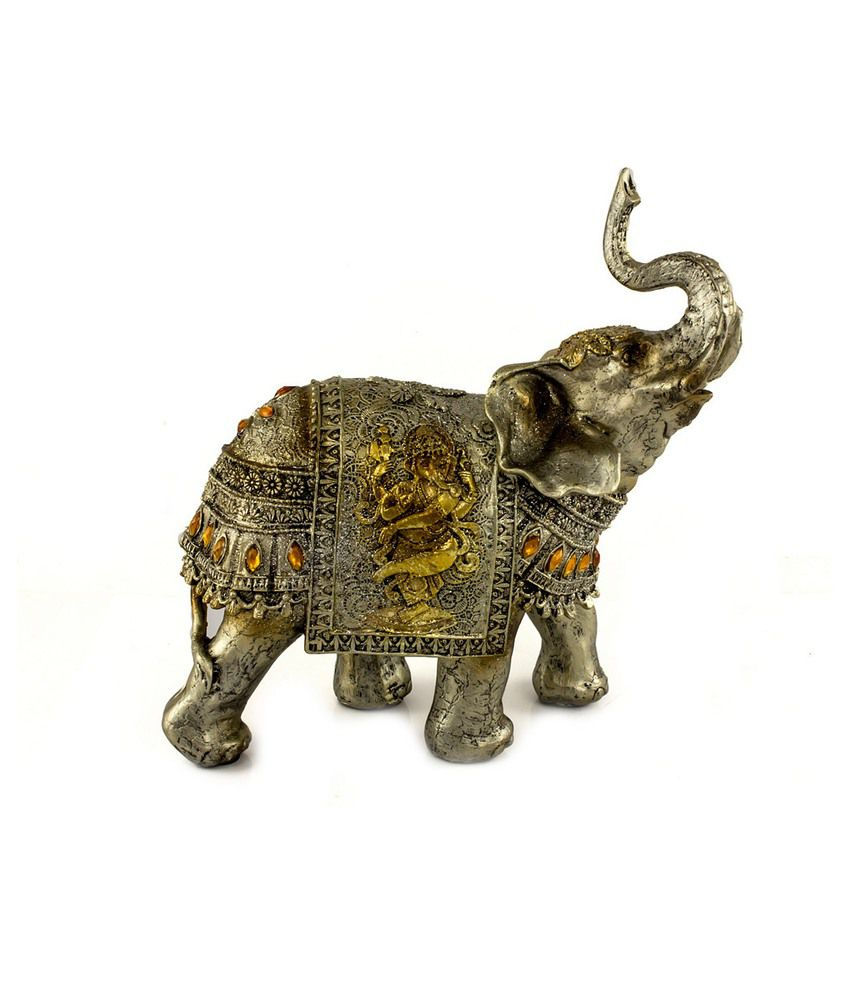 Ray-Pro Matte Resin Ganesha Showpiece