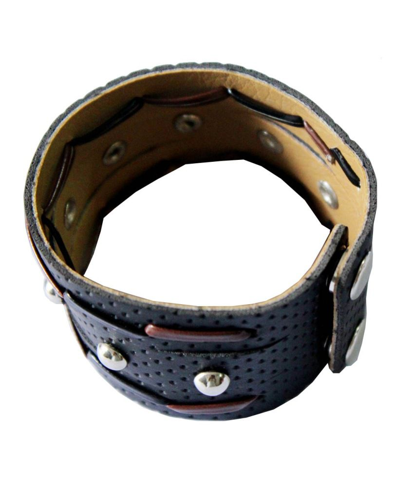 Rich And Famous Black Alloy Bracelet