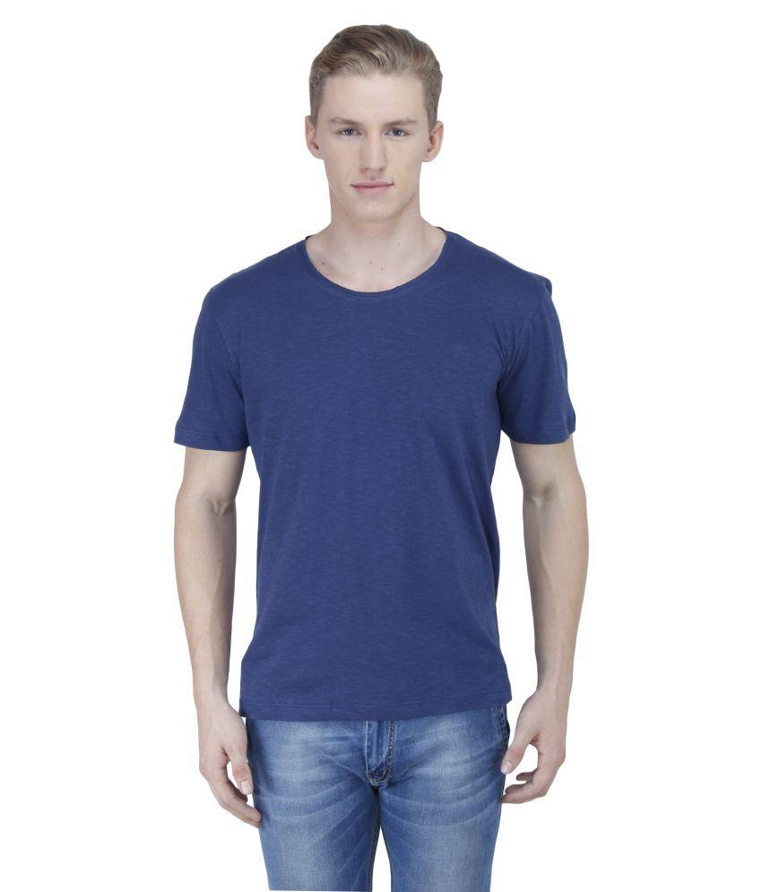 Sass Blue Cotton Blend T Shirt