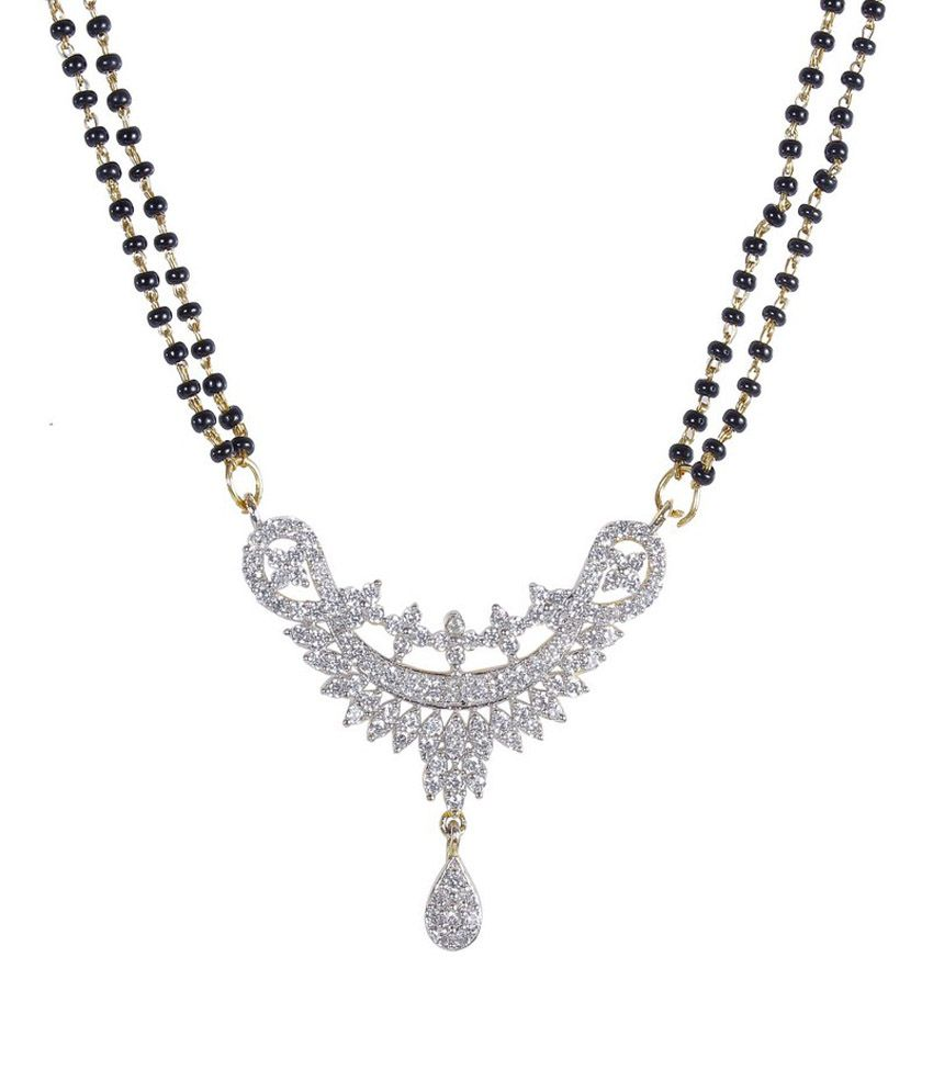 much more traditional design black beads cz stone fashion mangalsutra with earring women jewelry
