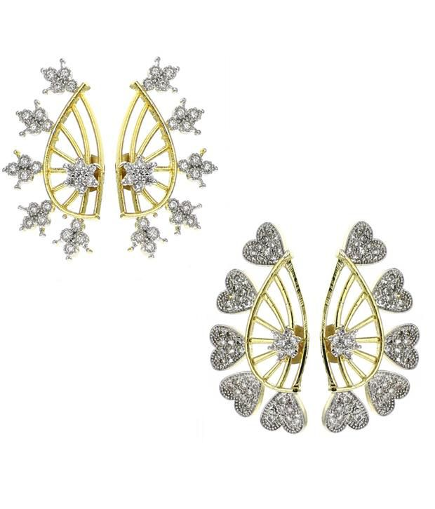 Youbella Gold Style Diva Daily Wear Earcuff - Pack Of 2