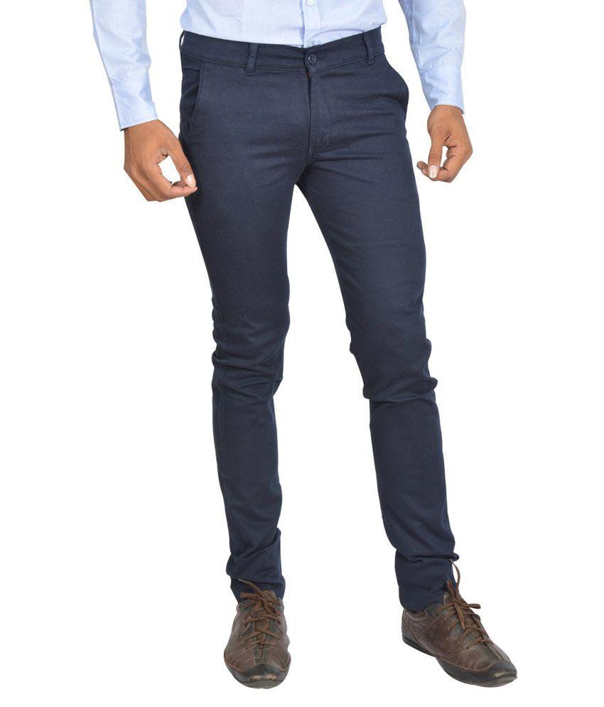 Club Wear Navy Slim Fit Trouser