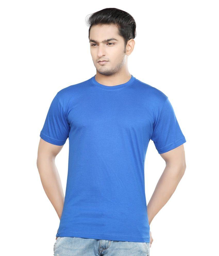 Kare Blue Cotton Blend T Shirt