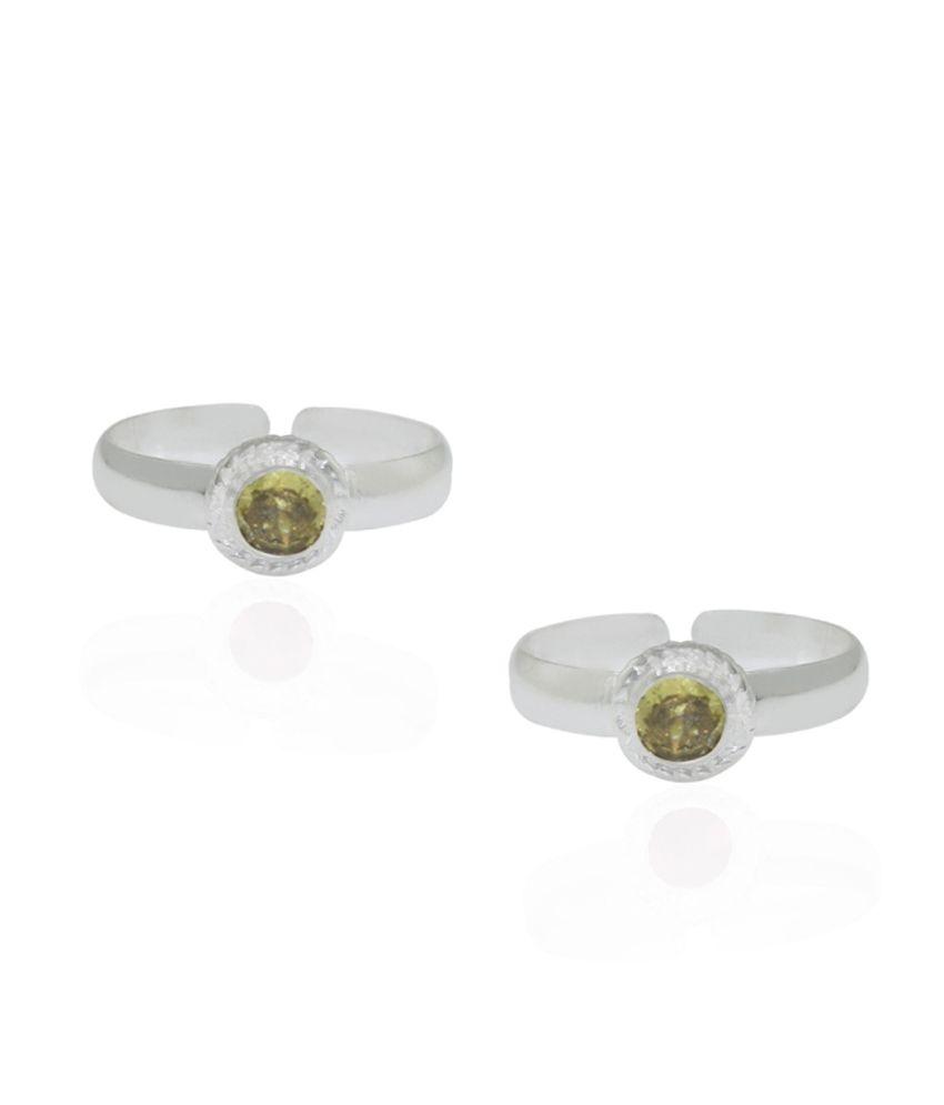 Pehchan Silver German Silver Toe Rings