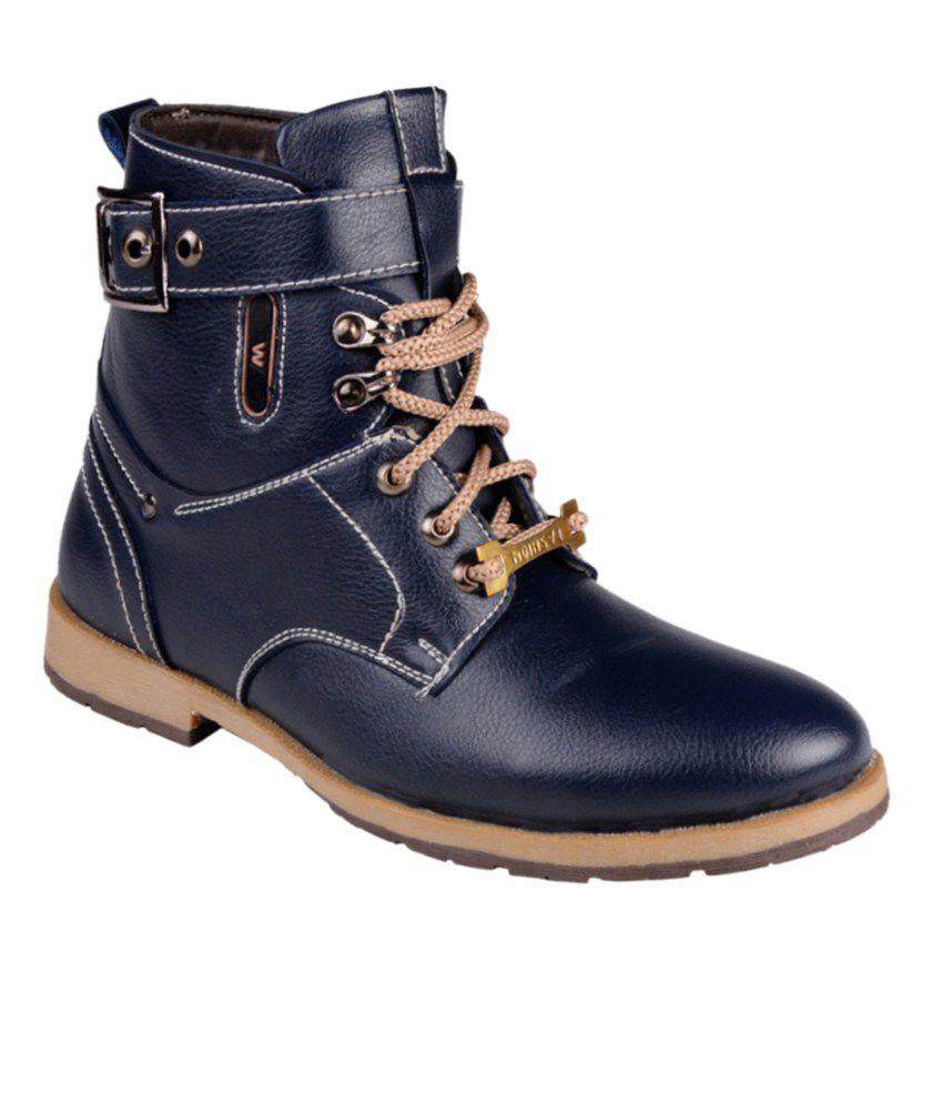Cns Shoes Blue Lace Boots