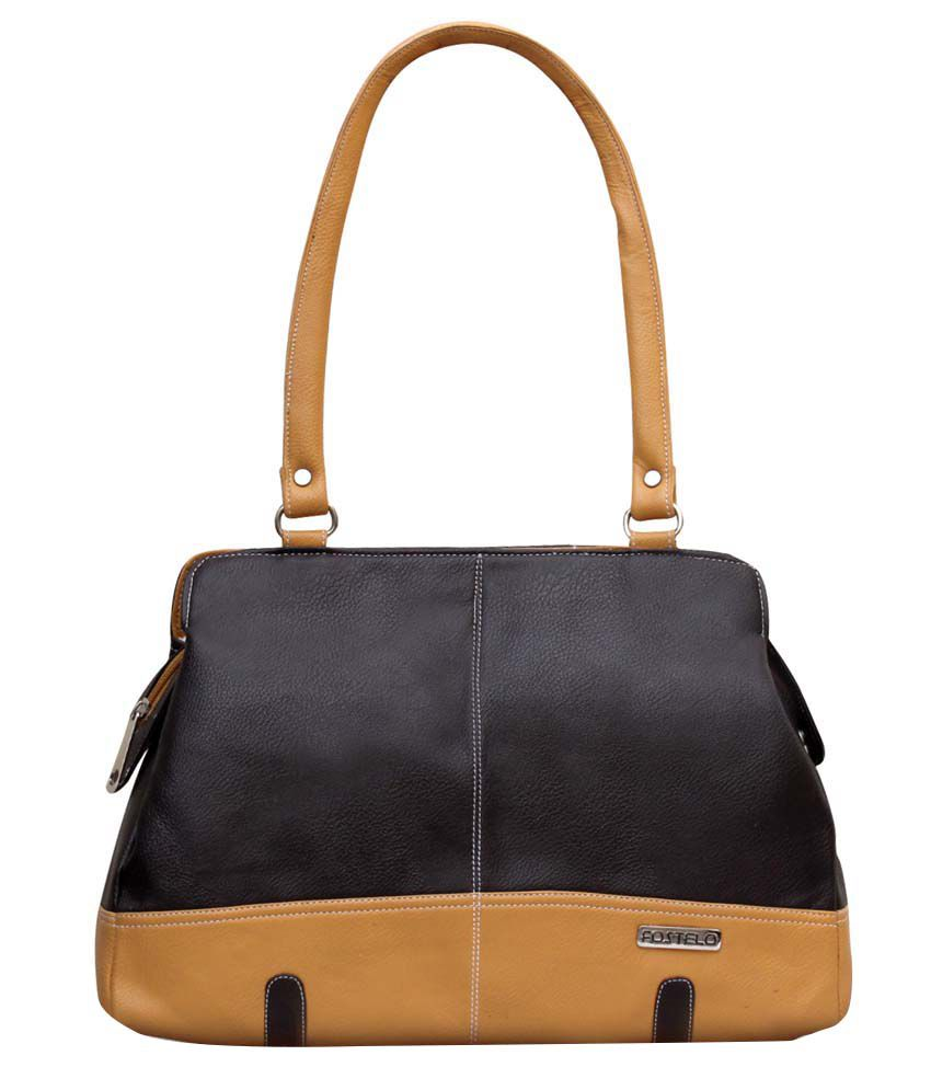Fostelo Brown Faux Leather Shoulder Bag Price in India   Buy Fostelo Brown  Faux Leather Shoulder Bag Online - Gludo.com a902baa529