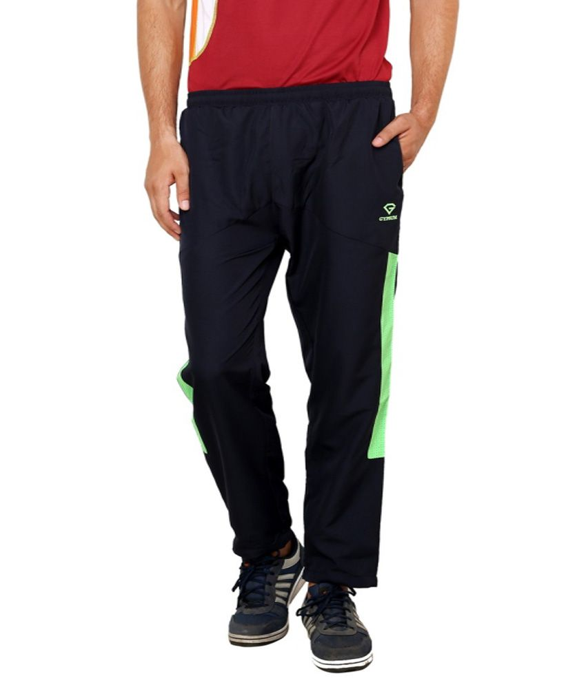 Gypsum Black Polyester Trackpant