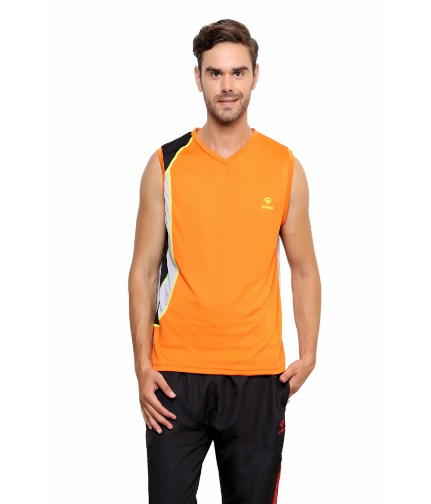 Gypsum Orange Polyester T Shirt
