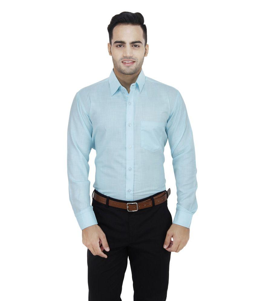 Leaf Brown Cotton Blend Regular Fit Full Sleeves Casual Shirt