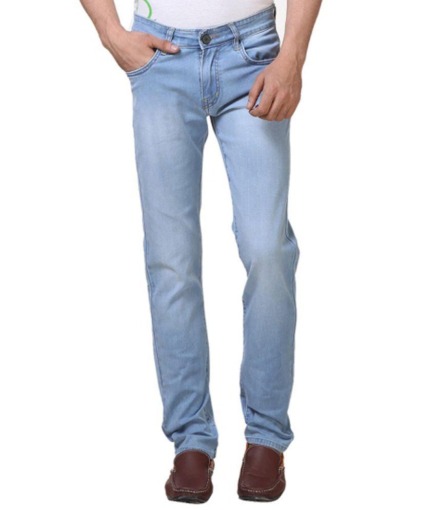 Priknit Blue Regular Fit Jeans