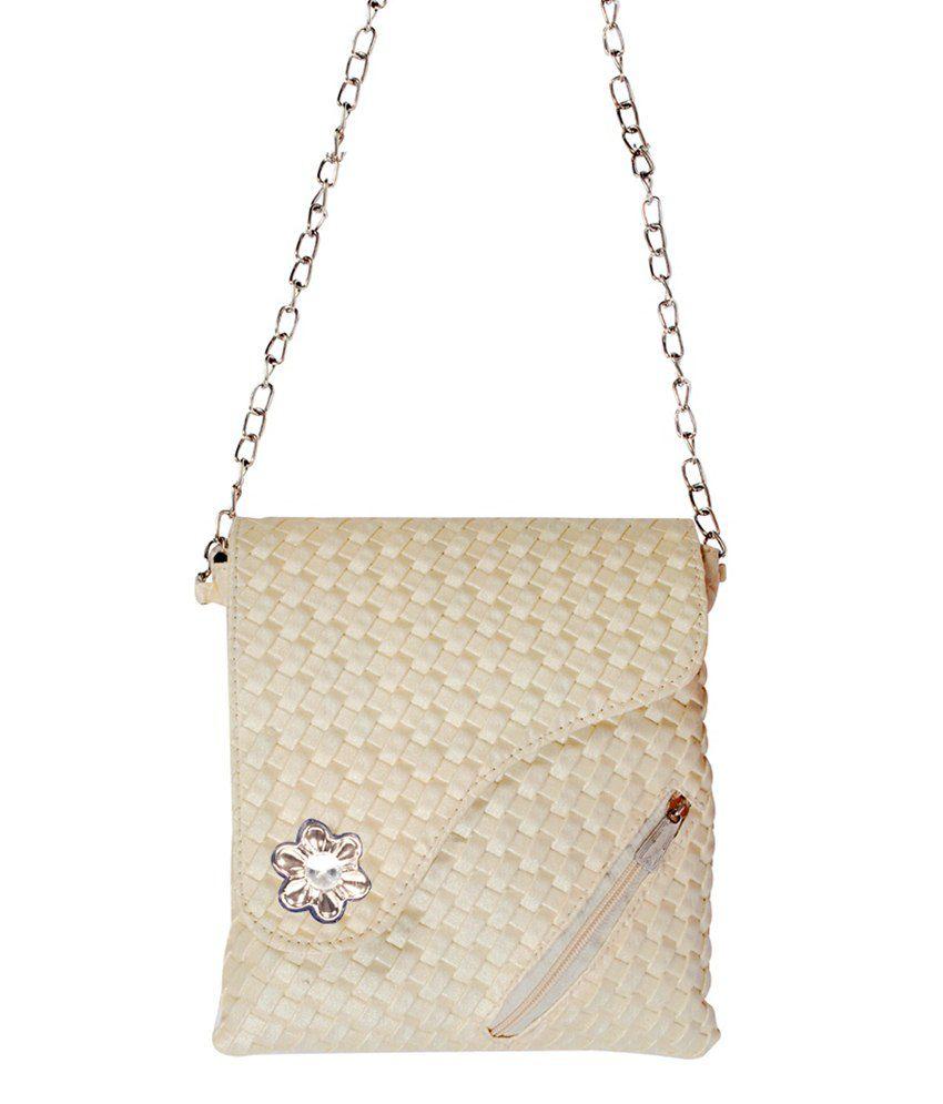 Samex Tan Magnit Button Sling Bag - Buy Samex Tan Magnit Button ...