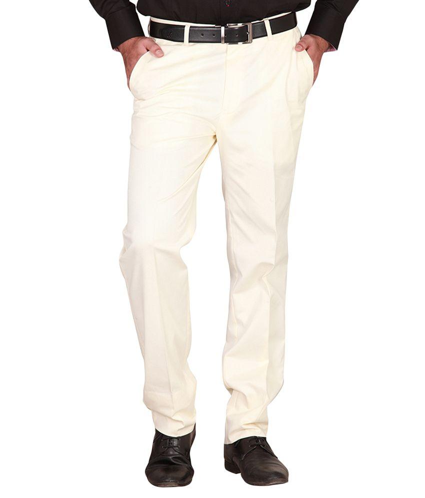 Tressco Enterprises White Regular Fit Formal Trouser