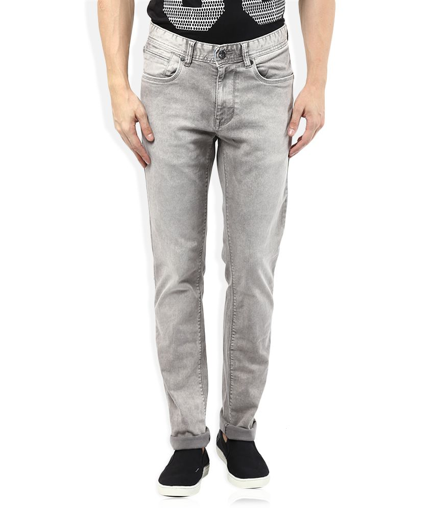 Numero Uno Regular Fit Grey Jeans