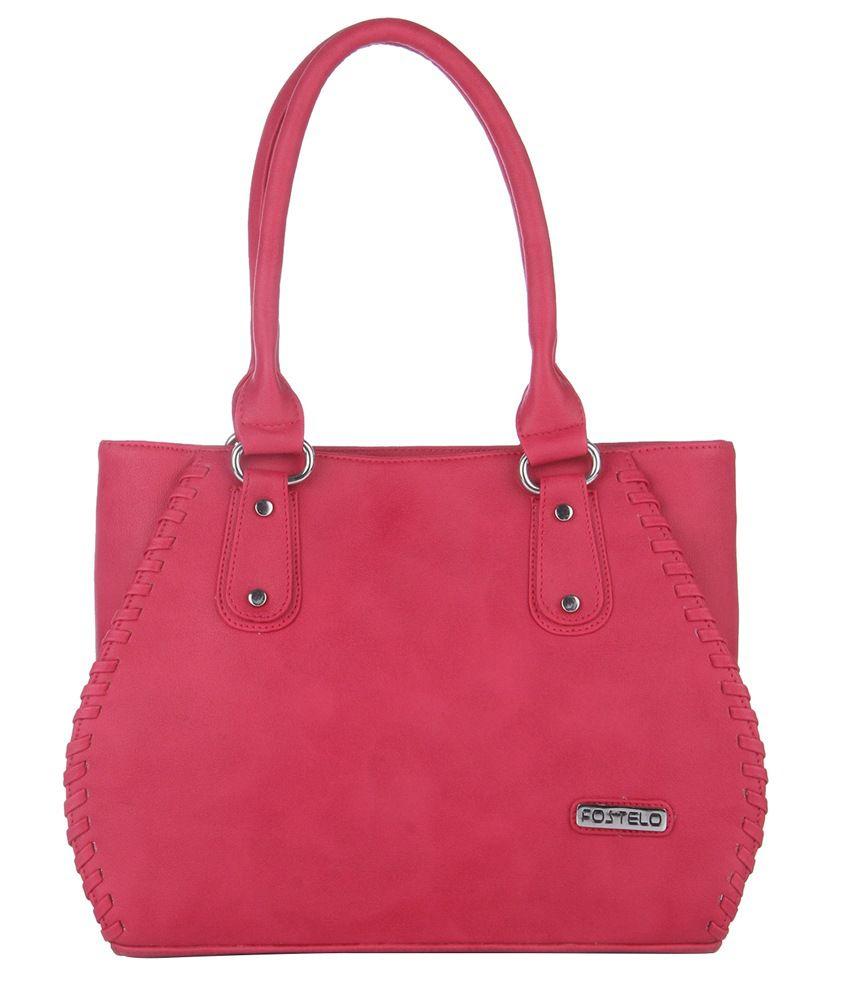 Fostelo Pink Shoulder Bags