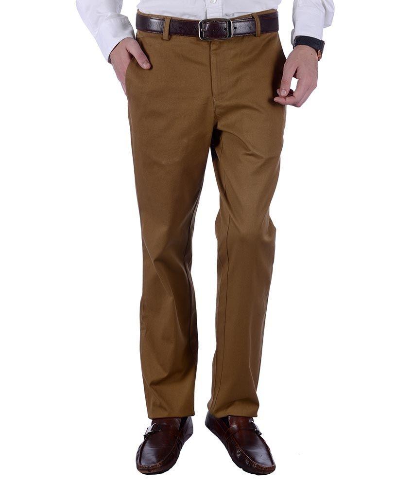 Frank Jefferson Brown Slim Fit Formal Flat
