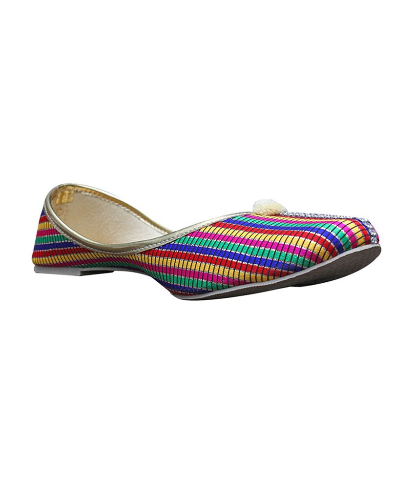 Port Multicolour Flat Punjabi Womens Jutis