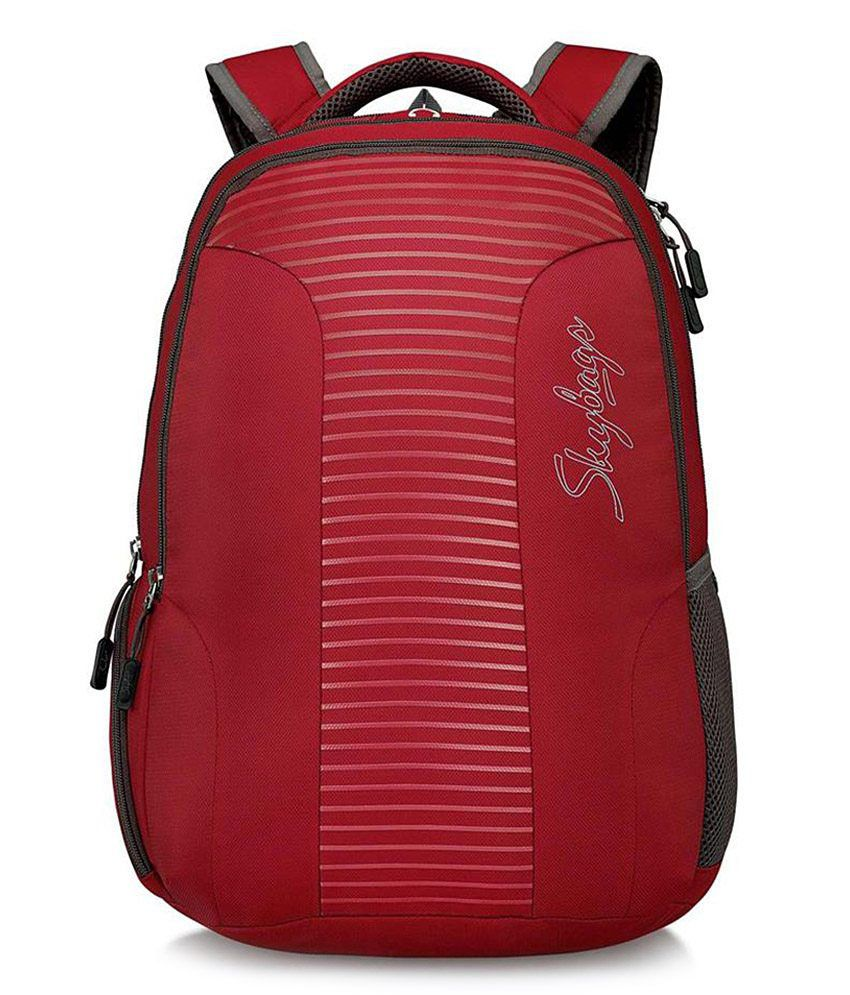 Skybags Geo Red 30 Litres Laptop Backpacks - Buy Skybags Geo Red ...