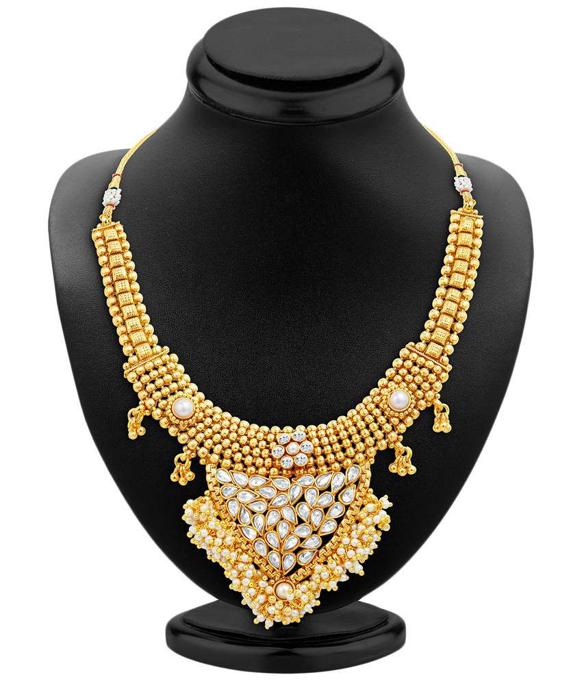 Sukkhi Gold Plated Pearl Necklace Set