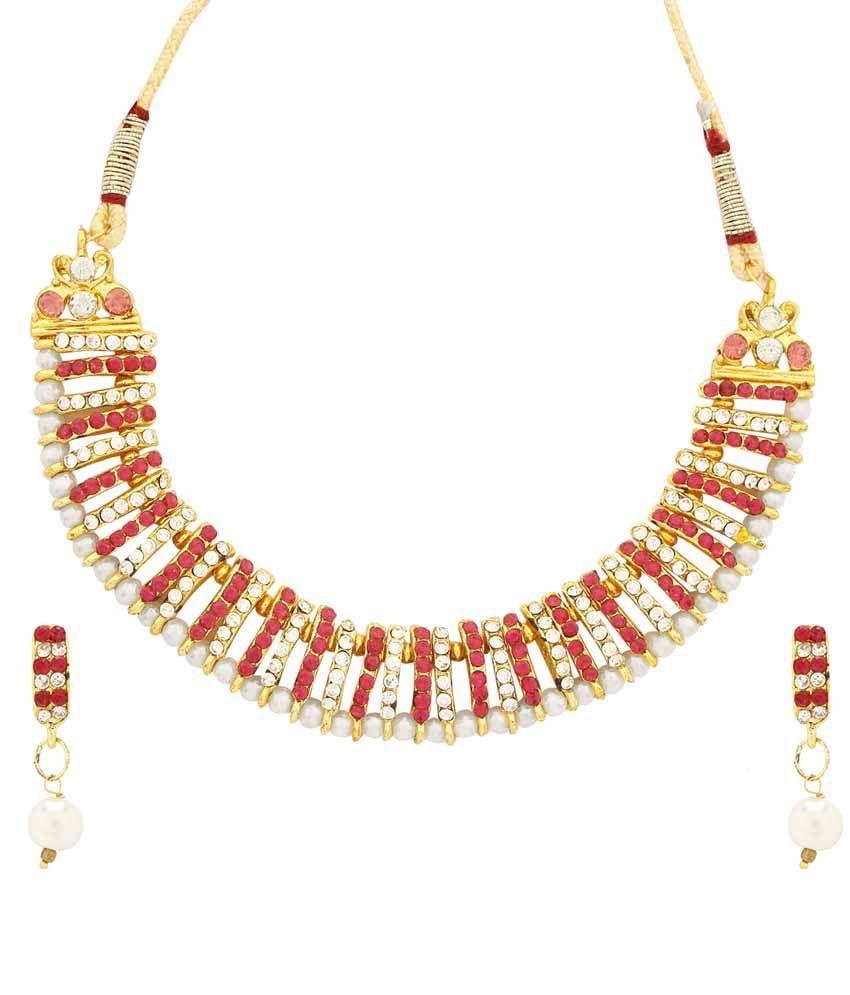 Faastdeal Multicolor Alloy Austrian Diamond Necklace Set