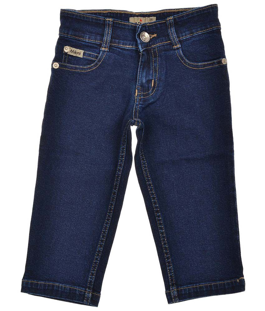 Miloni Blue Denim Capri