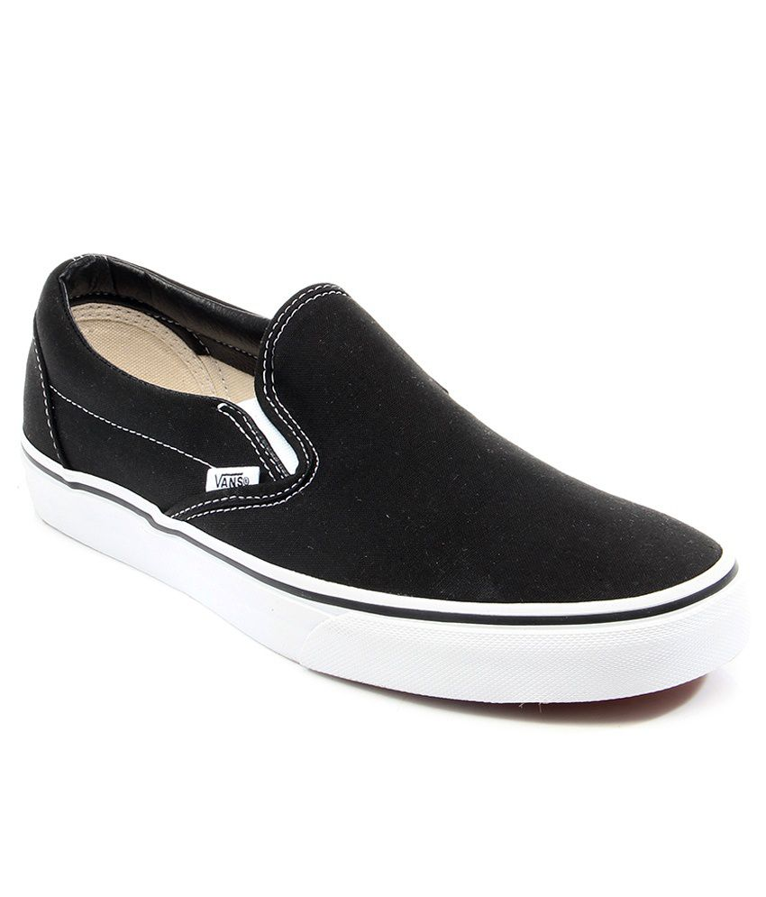 2496fdd75380 Vans Classic Slip On Black Casual Shoes - Buy Vans Classic Slip On Black  Casual Shoes Online at Best Prices in India on Snapdeal