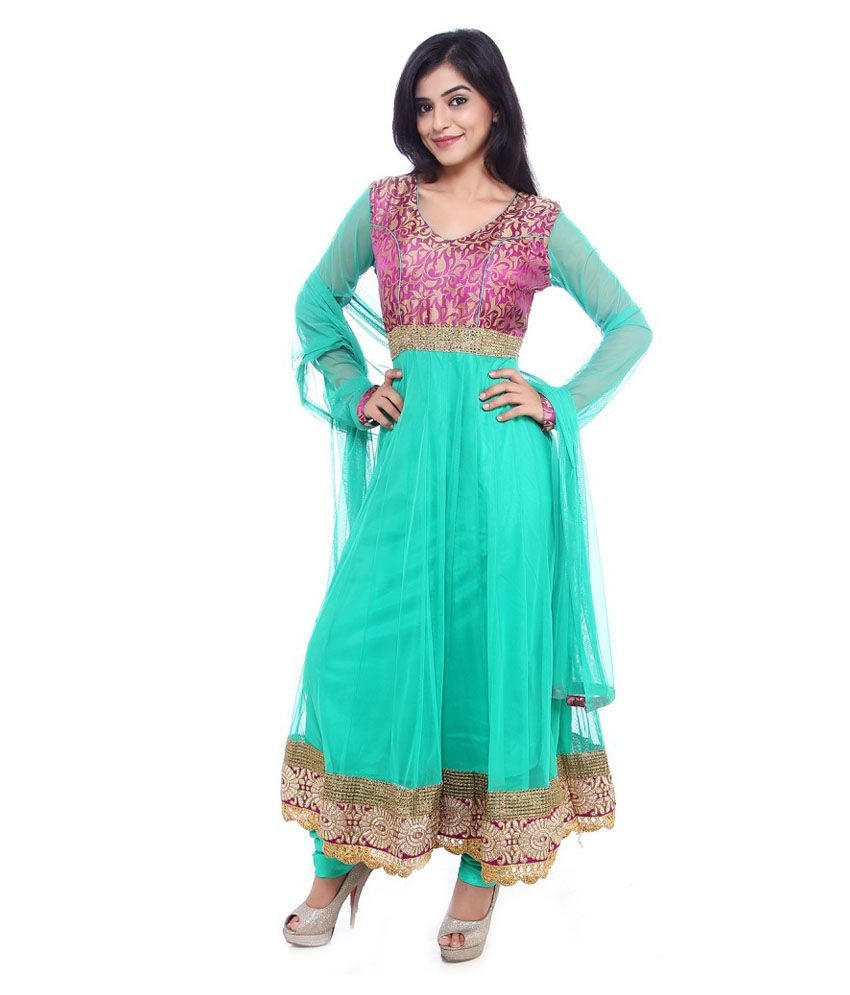 Fasense Green Net Stitched Suit