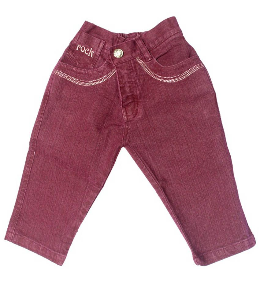 N-XT GIRLS Brown Denim Capri