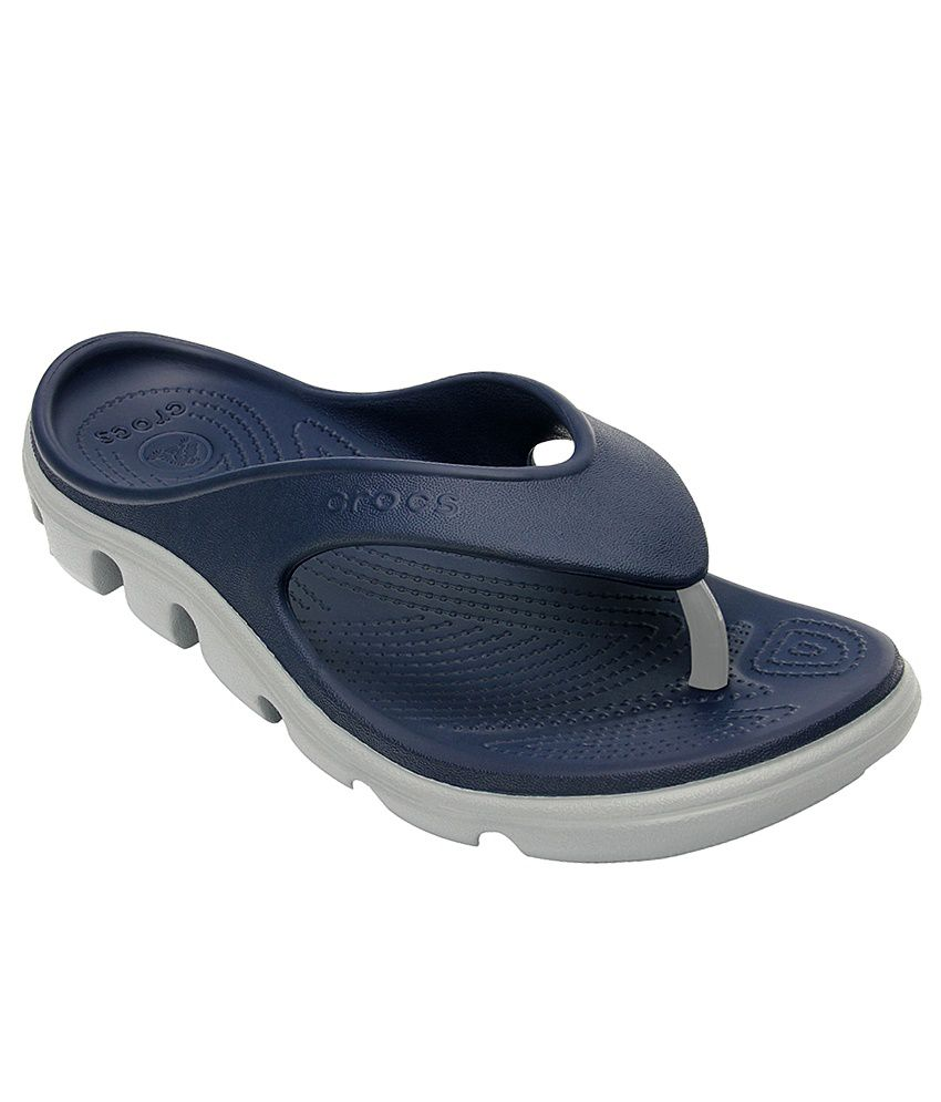 Crocs Duet Navy Relaxed Fit Flip Flops Price in India- Buy Crocs Duet Navy  Relaxed Fit Flip Flops Online at Snapdeal b467cad58