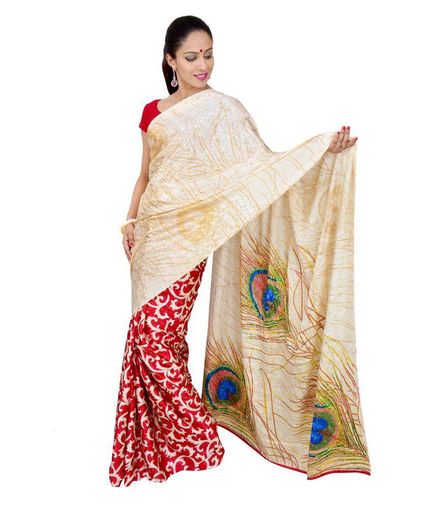 El Sandlo Multi Art Silk Saree