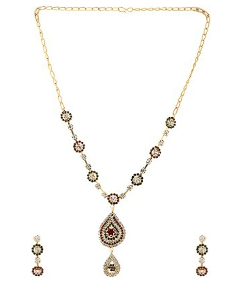 Jai Shree Multicolour Alloy Necklace Set