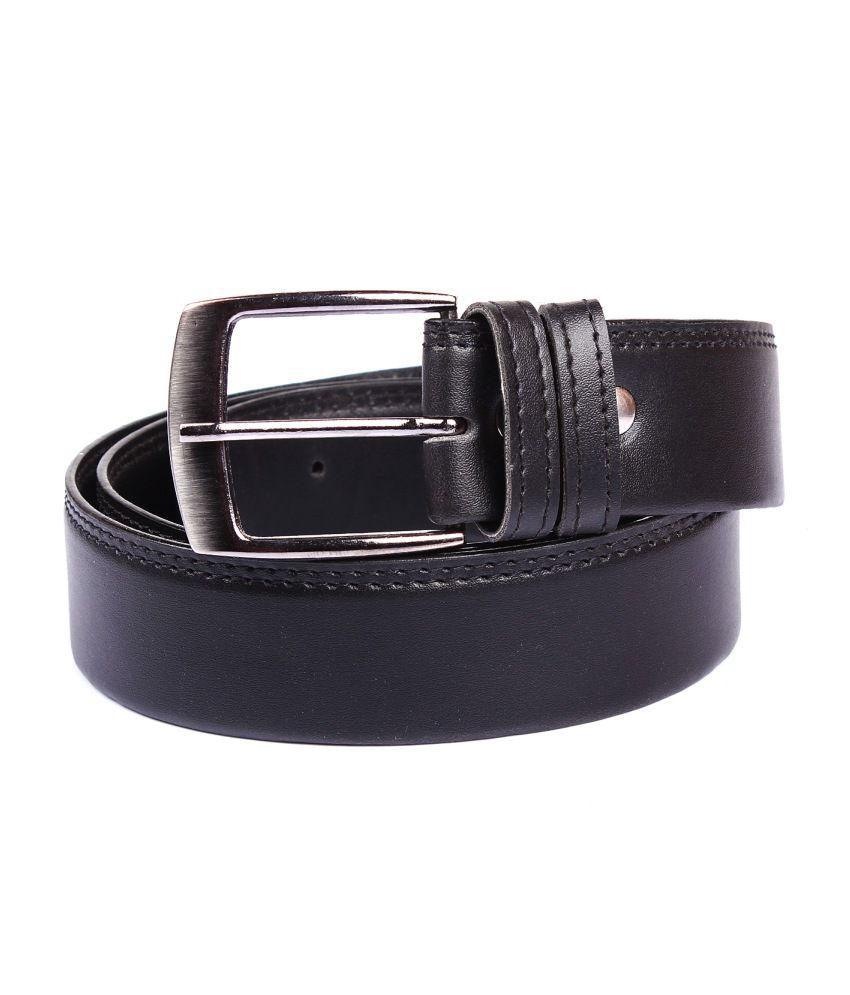 Porus Club Black Formal Belt For Men