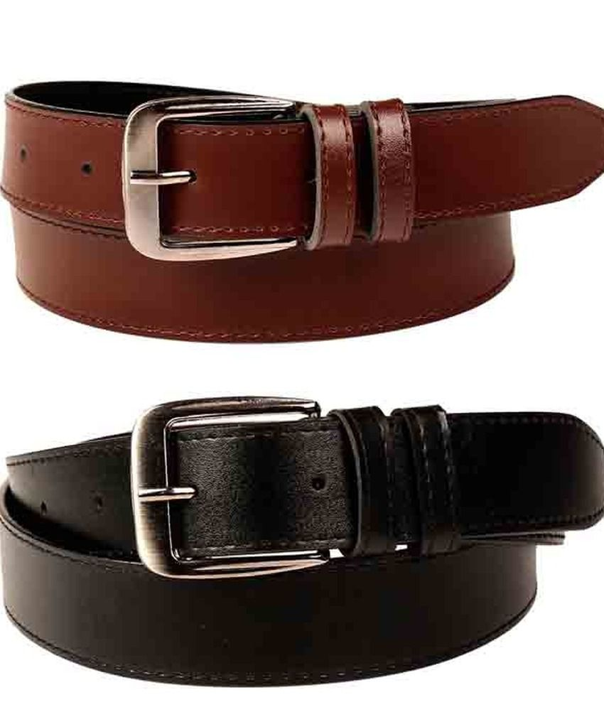 Porus Club Multicolour Casual Belt For Men (pack Of 2)