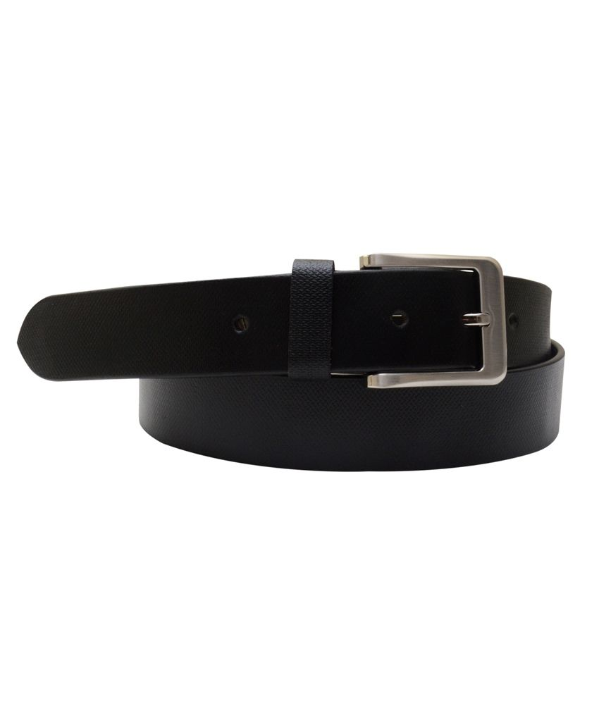 Shopatplaces Black Leather Formal Belt