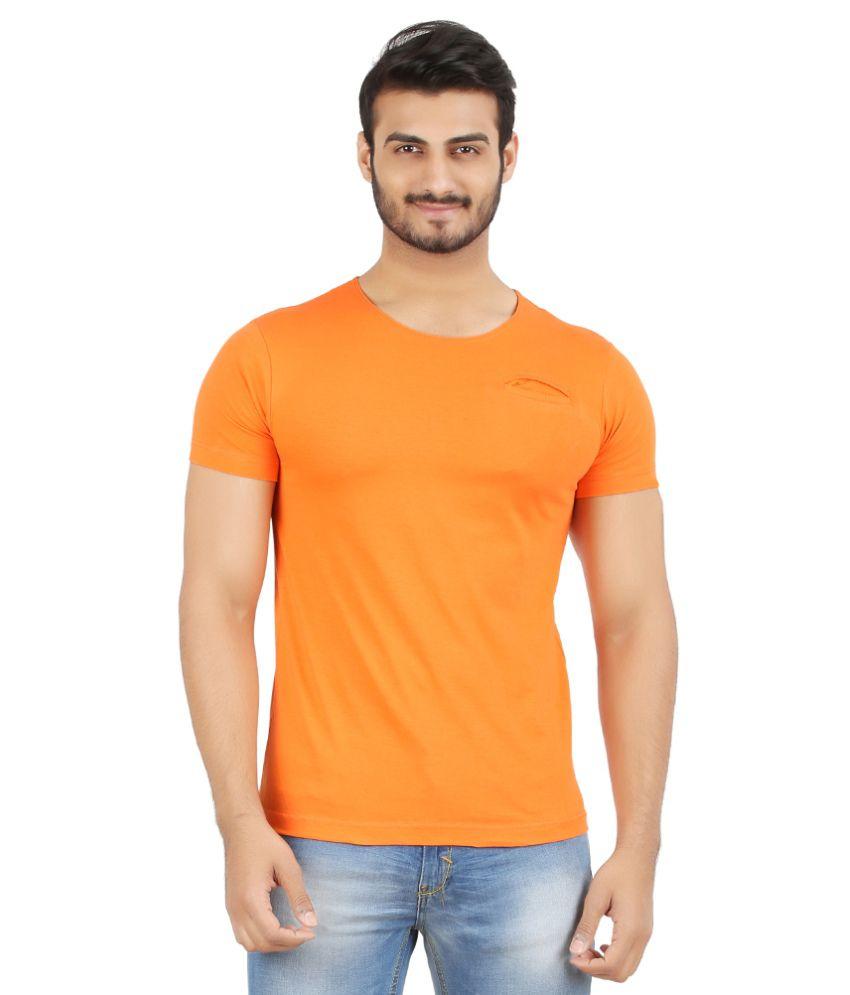 Hoodz Orange Cotton T - Shirt
