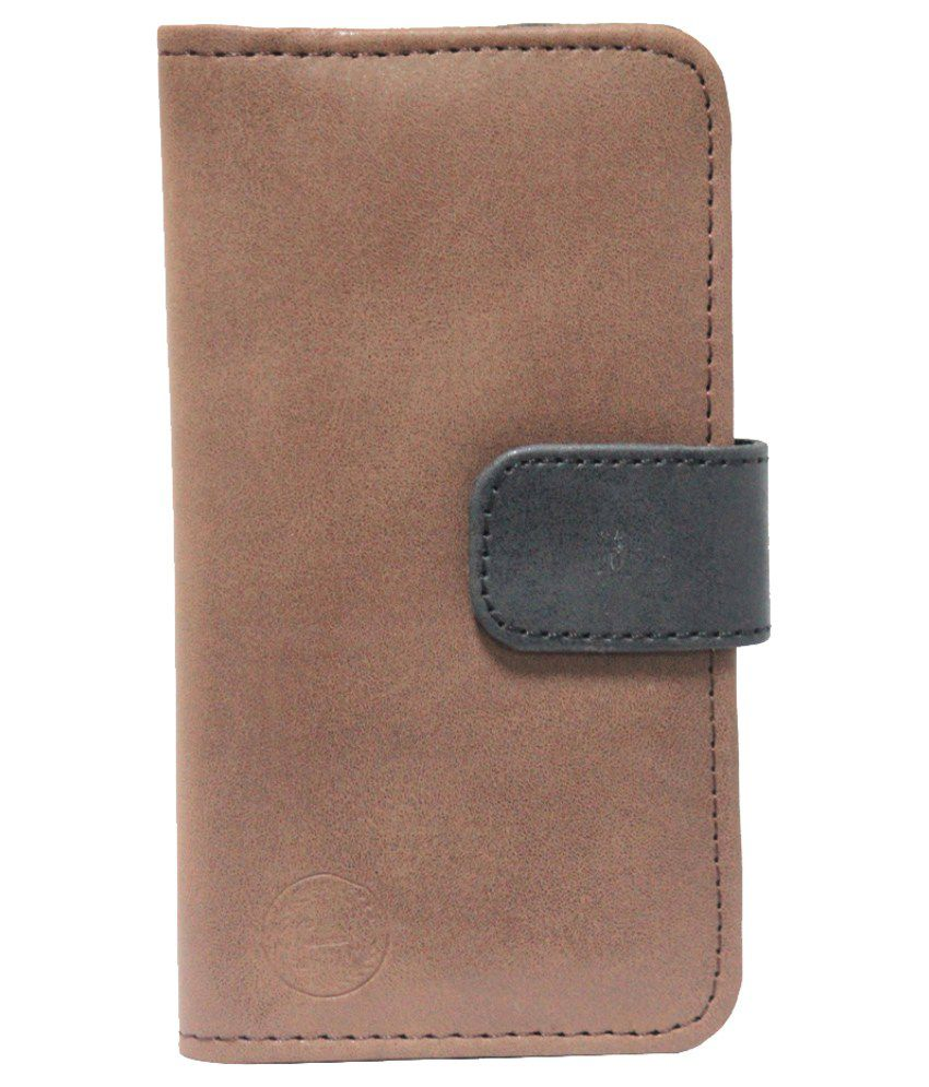 Jo Jo Flip Cover for Gionee Gpad G4 - Brown and Black