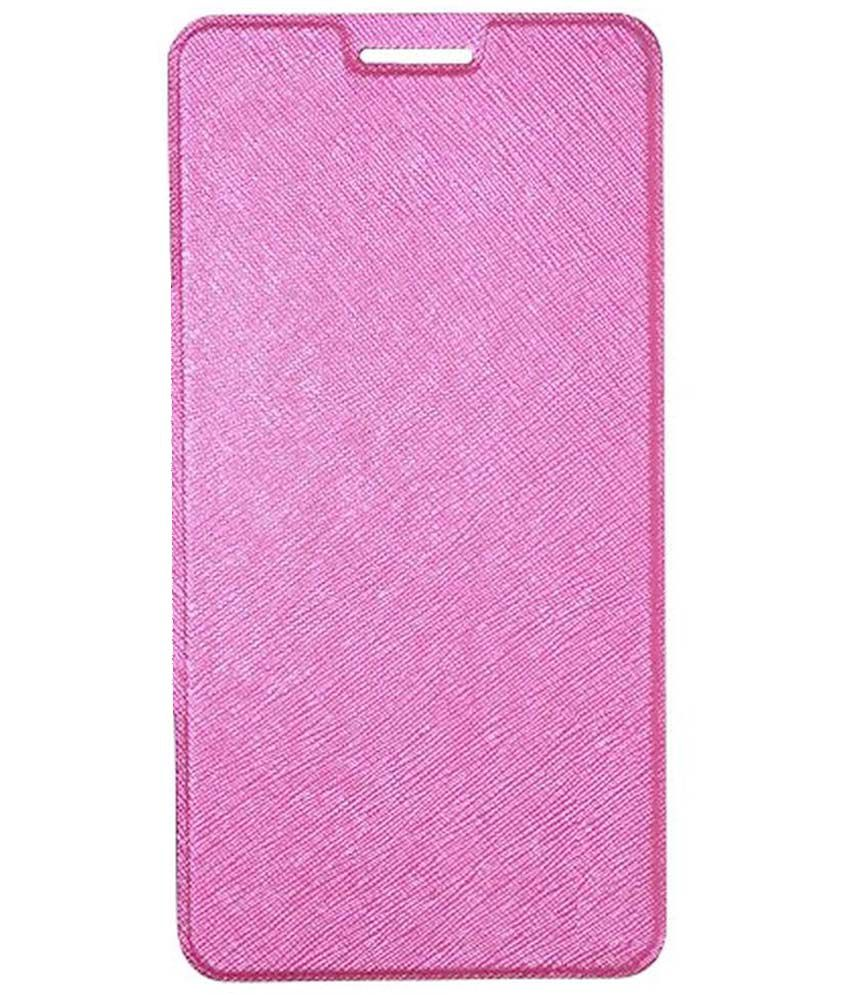 new arrivals 9ee95 7fc6a Stapna Flip Cover For Micromax Canvas Doodle 4 Q391 - Pink - Flip ...
