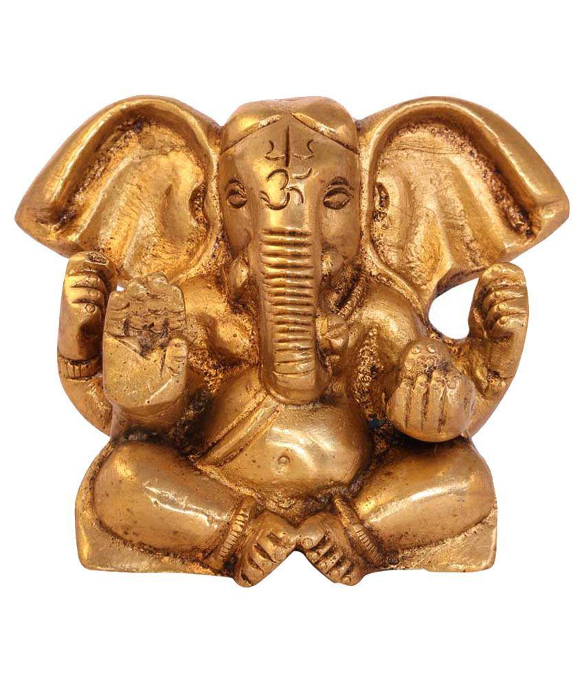 Statuestudio Yellow Brass Appu Ganesha Small
